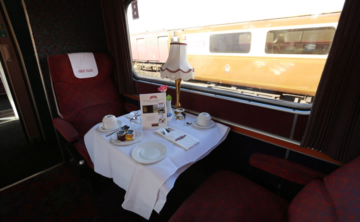 Example of Premier Dining/Premier First Class Private Table for 2
