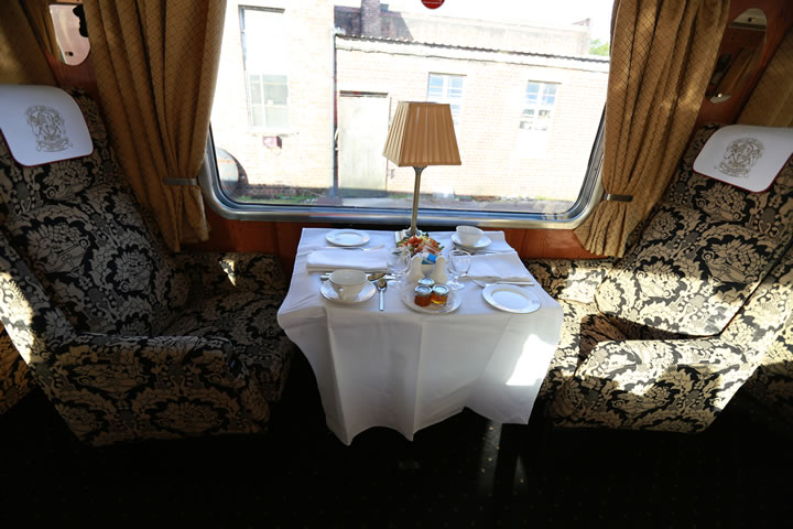 Example of Pullman Dining/Pullman First Class Private Table for 2